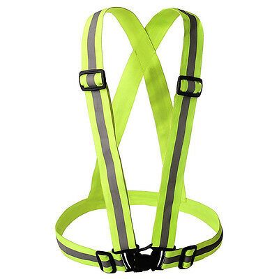 Hi Vis Vest High Viz Safety YELLOW Waistcoat Visibility Jacket Reflective Belt