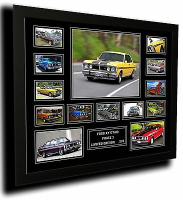 Ford Xy Gt-Ho Phase 3 Limited Edition Framed Memorabilia