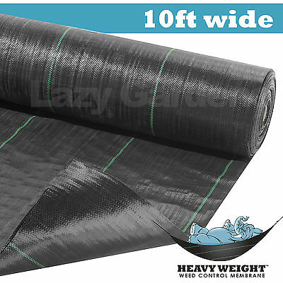10ft weed control fabric garden landscape membrane ground cover barrier driveway