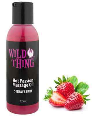 Wild Thing Strawberry Warming Massage Oil 125 ml Lickable Sensual Romantic Times