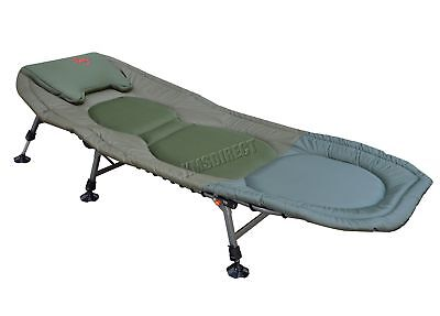 Portable Carp Fishing Bed Chair Bedchair Camping 6 Adjustable Legs Pillow FB-021