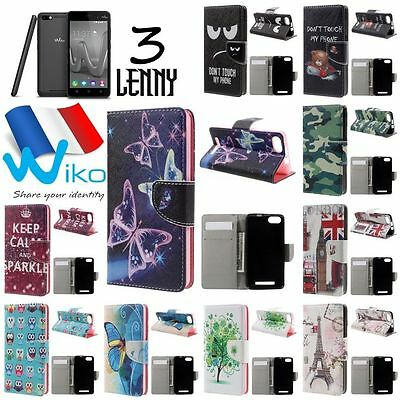 Etui housse coque porte cartes XXL Colors WIKO Lenny 3 Wallet Case