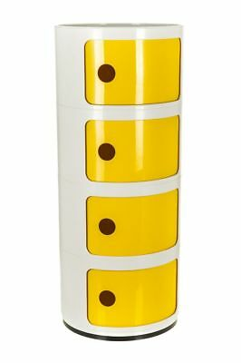 Kartell Style Componibili Drawer Bedside Cabinet Table Lamp Storage 2 Tier Unit