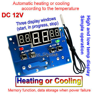 DC12v 10A LED Display Digital Thermostat Controller Temperature Relay Switch