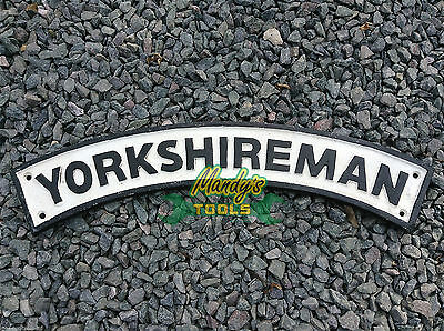 Cast Iron YORKSHIREMAN Arch Sign for Yorkshire Towns & Local Pubs Cafes Hotels