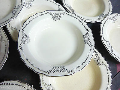 11 Antique W.S. GEORGE CANARYTONE LIDO BERRY BOWLS FRUIT CUPS ART DECO hotel