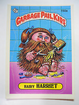 VINTAGE! 1986 Topps Garbage Pail Kids Trading Card #150a-Hairy Harriet