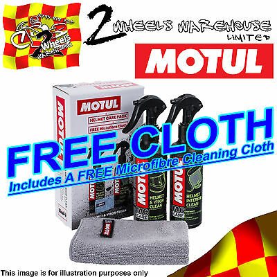 Motul M1 M2 Helmet Visor And Interior Cleaner Free Microfibre Cloth Care Kit18