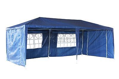 Waterproof Blue 3m x 6m Outdoor Garden Gazebo Party Tent Marquee Awning Canopy