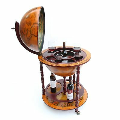FoxHunter Globe Shaped Mini Bar Drinks Cabinet Retro Style Trolley Wine 450MM