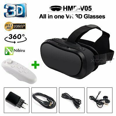 New 360° All-in-one 3D VR Glasses Virtual Reality Quad Core 1080p FOV Headset