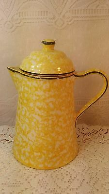 Vintage Spangl Yellow Sponge Town & Country Teapot Mint Condition