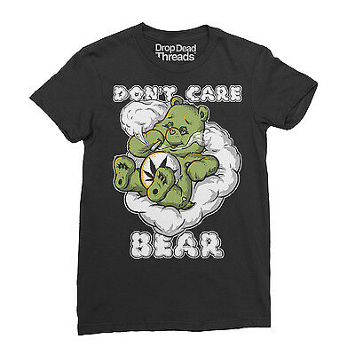 Don't Care Bear Funny Cannabis Weed Smoker Men's T-Shirt New S - XXL
