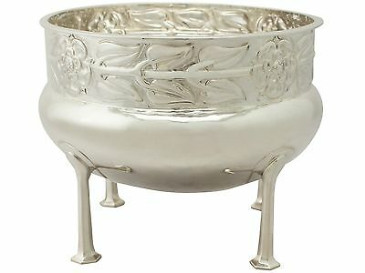 Sterling Silver Jardiniere / Bowl by A E Jones - Arts and Crafts Style - Antique