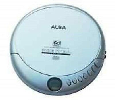Alba Portable Personal CD Player in Silver