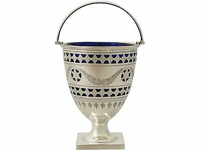 Sterling Silver Sugar Basket - George III Style - Antique George V