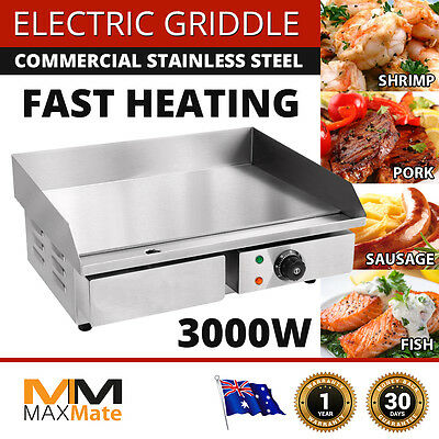 NEW Electric Griddle PORTABLE Grill Hot Plate Stainless Steel Commercial BBQ