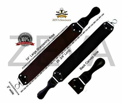 "26 3/4"" Wide Leather Sharpening Strop Strap Belt For Straight Razor Sharpener"