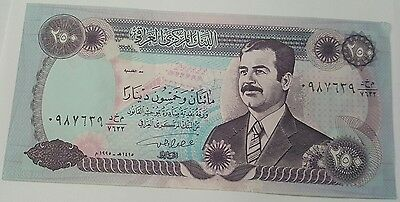 """Iraq Two Hundred Fifty """"d250"""" Dinars,1990"""