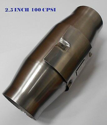 """2.5"""" Inch 100 Cell Cpsi Metal Core Race Cat Converter Stainless Body"""