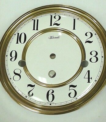 Hermle-Westminster clock dial  150 mm for 341-340 movement solid brass Arabic