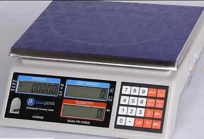 """Prime Scale PSC30KS Counting Scale 66 lb X 0.002 lb, Pan 11""""x8.5"""",  Brand New"""