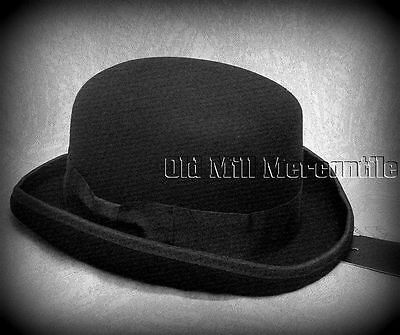 Old West sass black bowler derby hat 100% wool felt quality hat M-XL