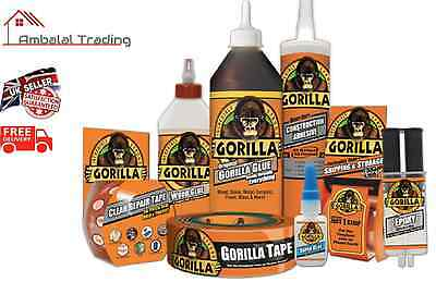 Gorilla Glue Full Range: Standard, Super Glue, Epoxy, Wood Glue, Grab Adhesive