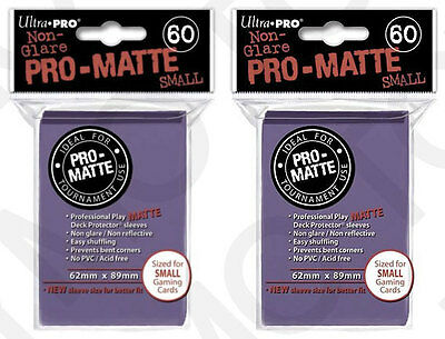 120 Ultra Pro Pro-Matte Small Mini Deck Protector Card Game Sleeves 84269 Purple