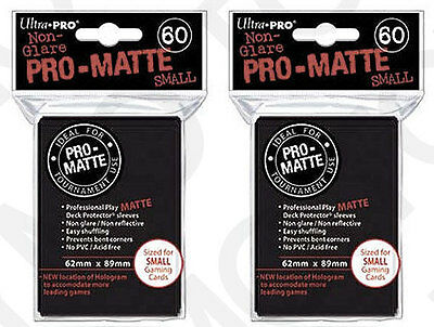120 Ultra Pro Pro-Matte Small Mini Deck Protector Card Game Sleeves 84021 Black