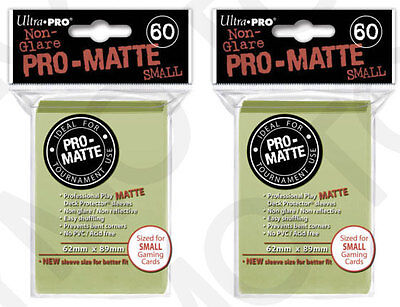 120 Ultra Pro Pro-Matte Small Mini Deck Protector Card Sleeve Bright Yellow