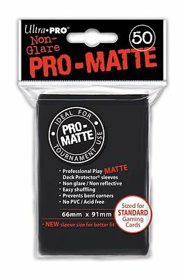 600 12pk ULTRA PRO Pro-Matte Deck Protector Card Sleeves Magic Standard Black