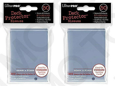 100 2pk ULTRA PRO Deck Protector Card Sleeves Magic Pokemon Standard Clear