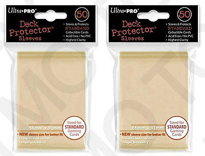 100 2pk ULTRA PRO Deck Protector Card Sleeves Magic Pokemon Standard Yellow