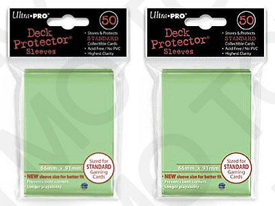 100 2pk ULTRA PRO Deck Protector Card Sleeves Magic Pokemon Standard Lime Green