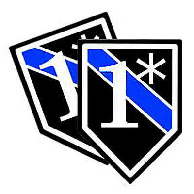 Thin Blue Line One Ass To Risk 1* Vinyl Decals Pack of 2