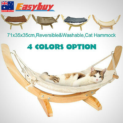 Reversible Animal Print Soft Washable Fleece Hanging Cat Hammock Kitty Bed NEW
