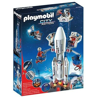 Playmobil Space Rocket With Base Station 6195