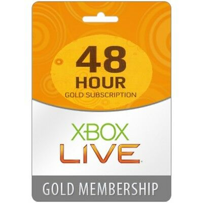 Xbox Live Gold 2 Days (48 Hours - 48HR) Trial Key Code | 360 ONE | INSTANT 24/7