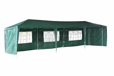 Waterproof Green 3m x 9m Outdoor Garden Gazebo Party Tent Marquee Awning Canopy