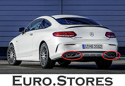 Mercedes-Benz C43 AMG Chromed Exhaust End Tube For C-Class Coupe C205 Genuine