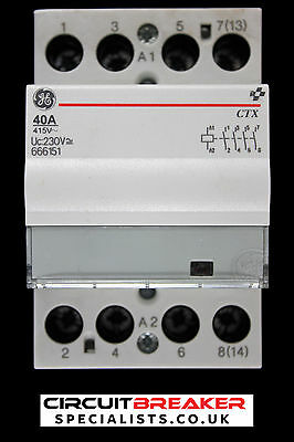 General Electric 40 Amp Four Pole No Contactor 230V Ac Dc Coil 666151