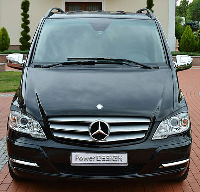 Eyebrows for MERCEDES VITO/VIANO 2010-2014  headlight eyelids lids ABS Plastic