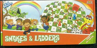 Brand New Classic/Traditional Snakes and ladders Board Game For Friends & Family