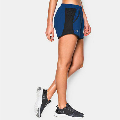 Under Armour Fly By Mujer Azul Running Gimnasio Deporte Shorts Pantalones Cortos