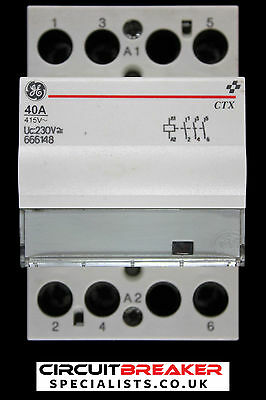 General Electric 40 Amp Triple Pole No Contactor 230V Ac Dc Coil 666148