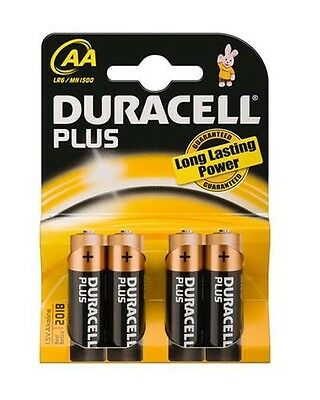 Piles alcalines AA LR6 Duracell Plus