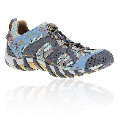 Merrell Maipo Mujer Azul Impermeable Sendero Exterior Excursionismo Zapatos