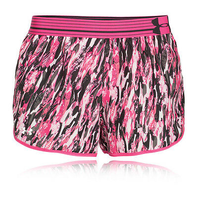 Under Armour Estampa Perfect Pace Mujer Rosa Deporte Shorts Pantalones Cortos