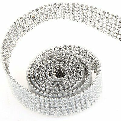 braided belt rhinestone shine Silver 20mm 1m L3